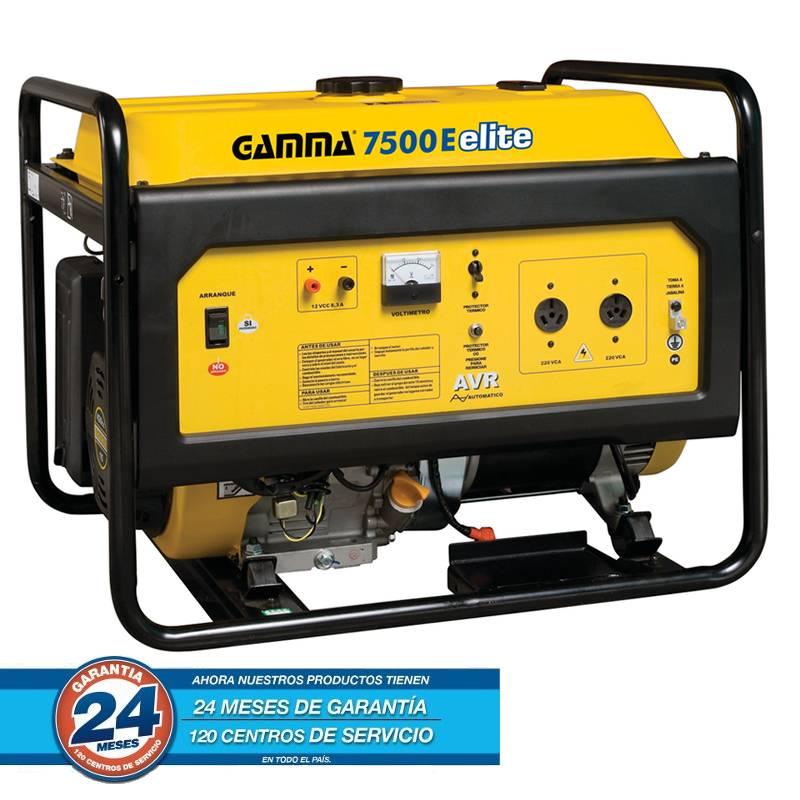 GRUPO ELECTROGENO 7.5KVA 4T 16HP ELITE 7500W A/M A/E -- GAMMA **