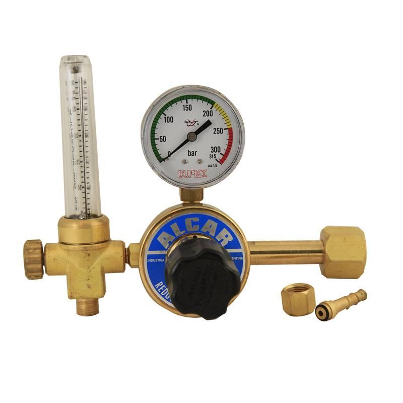 VALV.RED.CO2 GAS CARBONICO C/CAUDALIMETRO -- DUPLEX