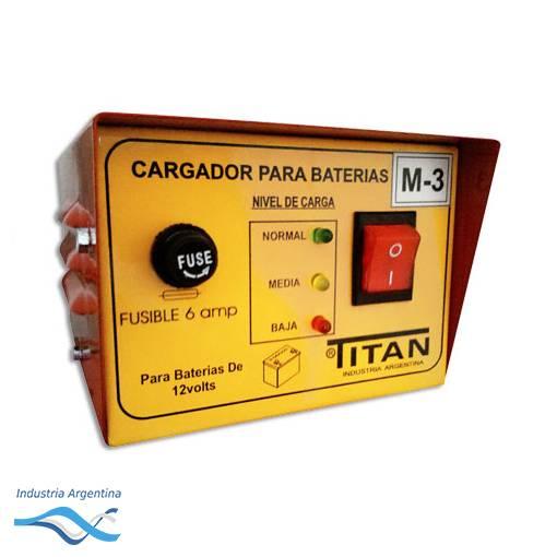 CARGADOR DE BATERIA 6V / 12V  M-3 -- TITAN