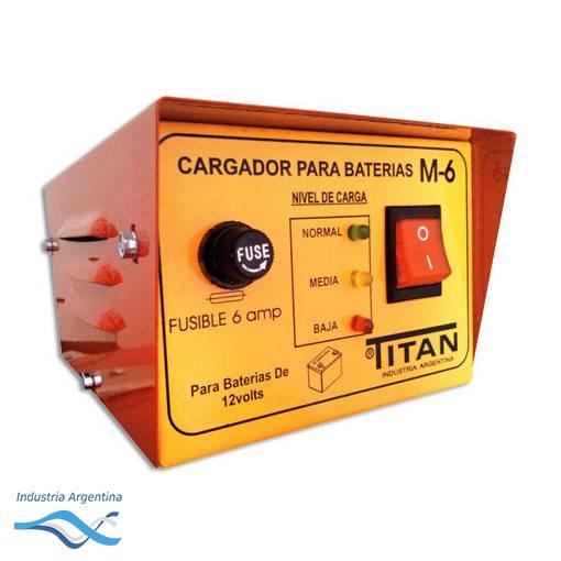 CARGADOR DE BATERIA 6V / 12V M-6 -- TITAN