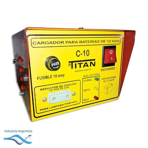 CARGADOR DE BATERIA 6V / 12V C-10 -- TITAN