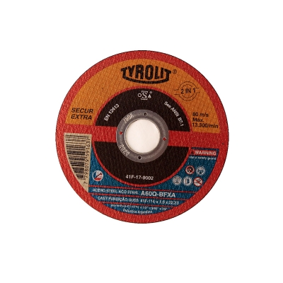 DISCO 115X1.0 X 22 PLANO SECUR O/A.-- TYROLIT