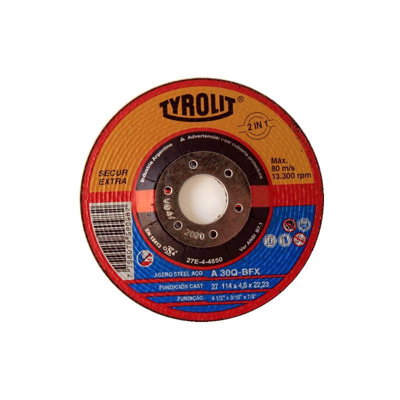 DISCO 115X4.8 X 22 O/A C/DEP (SECUR) -- TYROLIT