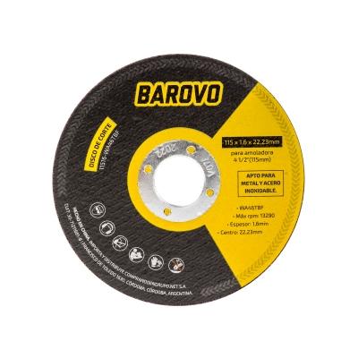 DISCO DE CORTE 115X1.6X22.3 -- BAROVO OFERTA!